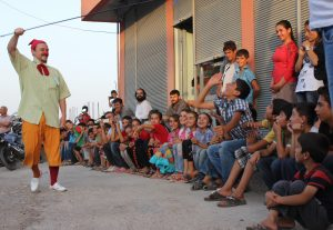 Clowns Without Borders with refugees in Turkey, July 2015.