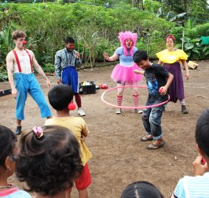 CWB plays with displaced children in Indonesia