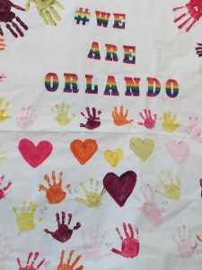 st. pjs kids remember Orlando with a hand made tribute