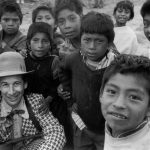 Chiapas 1998 - a clown and children