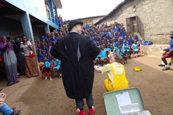 Clown Performance in Sierra Leone