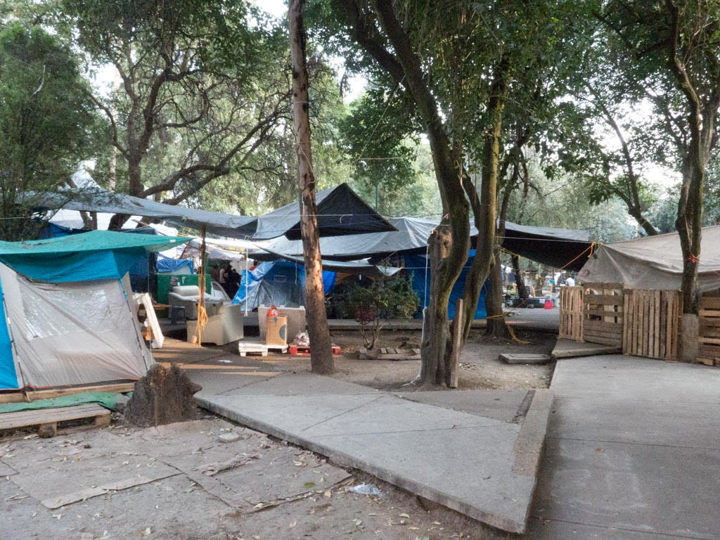 Tents in Mexico City