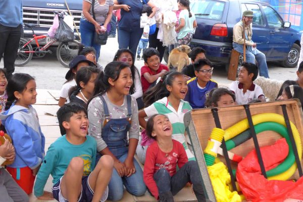 Children laughing in Mexico