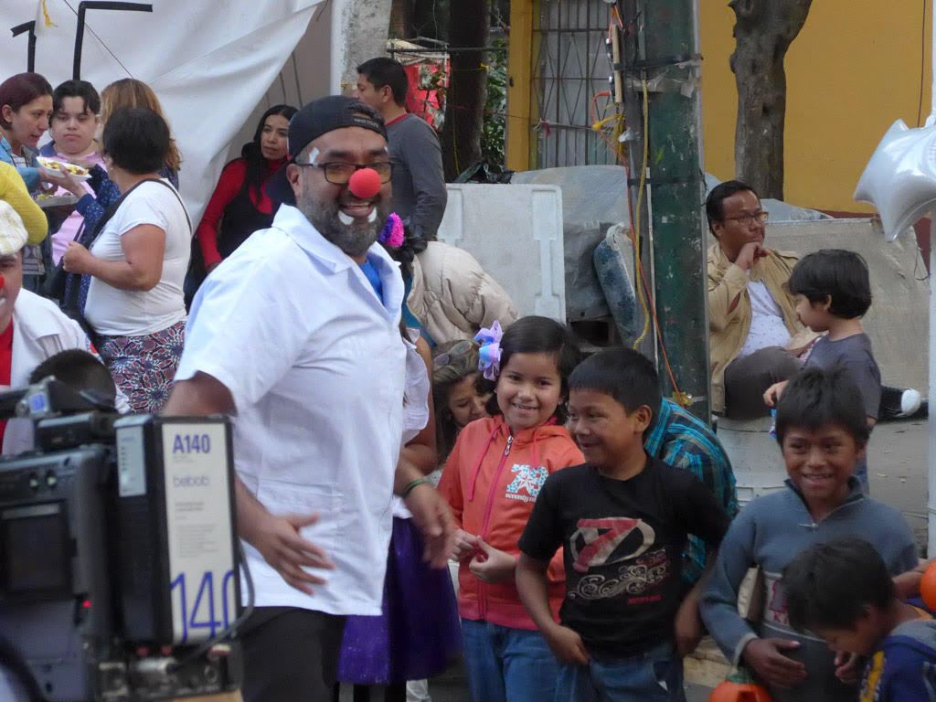 A clown in Mexico City