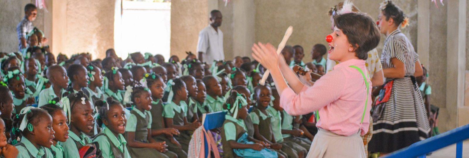 Kaitlin performs in Haiti.