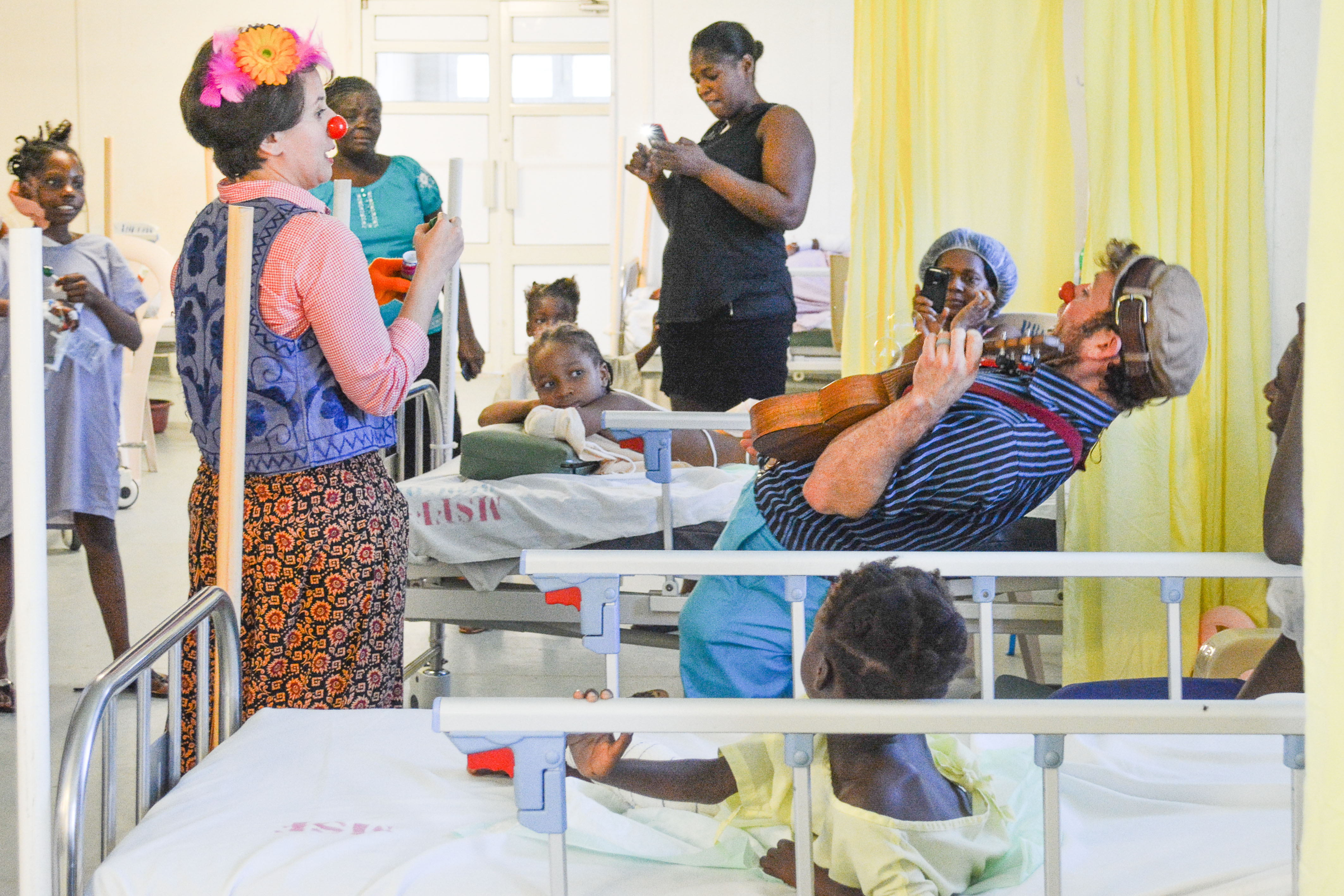 Clowns in the hospital in Haiti