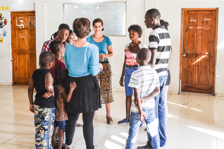 A workshop in Haiti