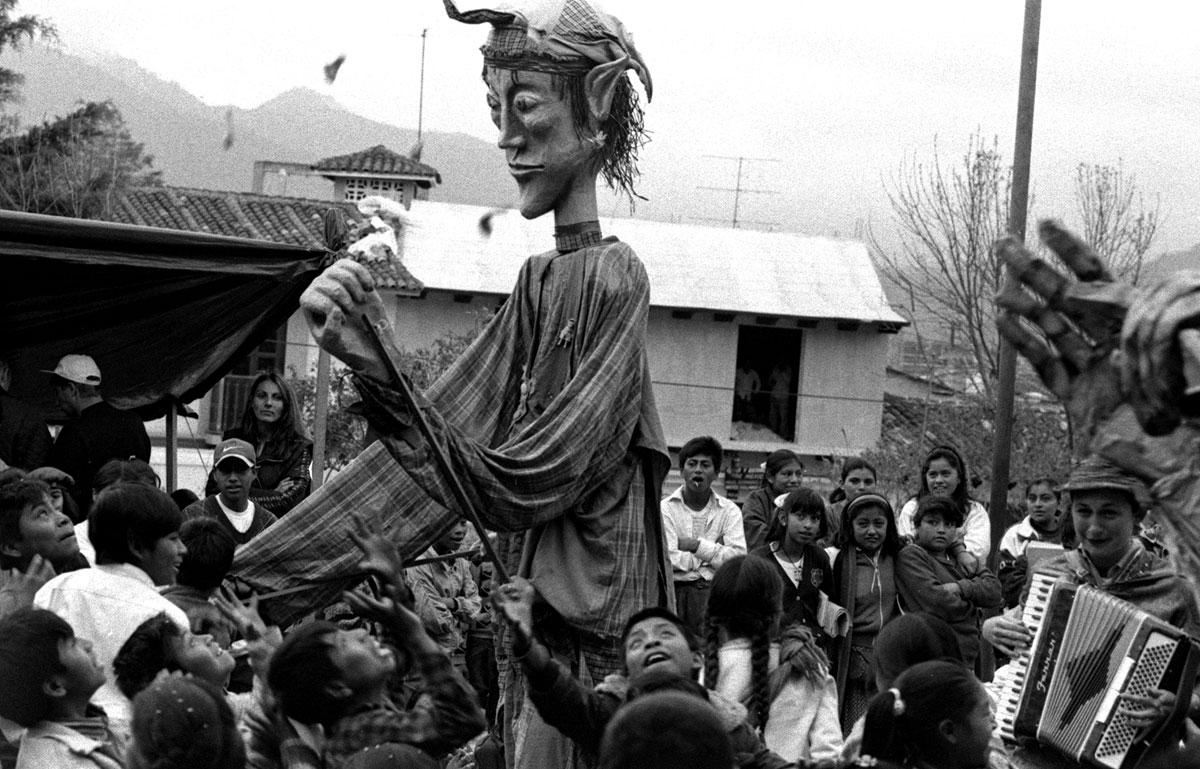 Huge puppets in Chiapas, 1997