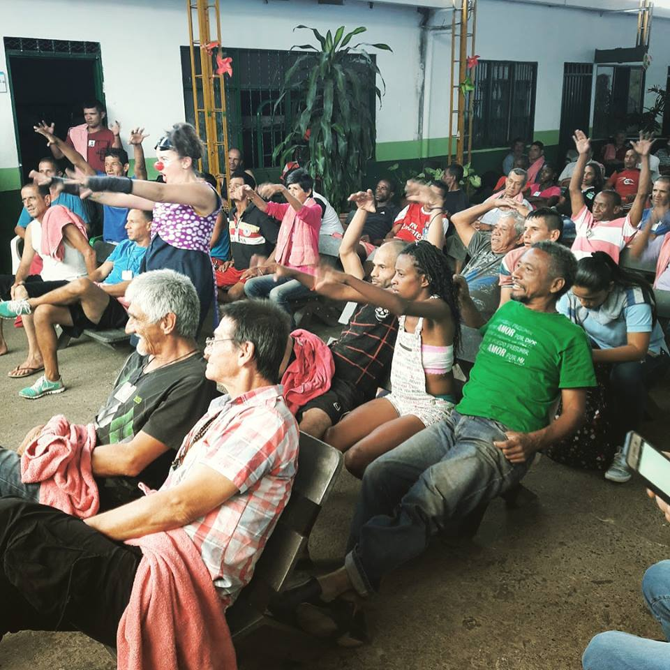 Adult audience at a CWB Show in colombia
