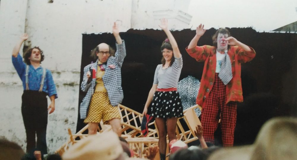Moshe and fellow clowns perform in Guatemala