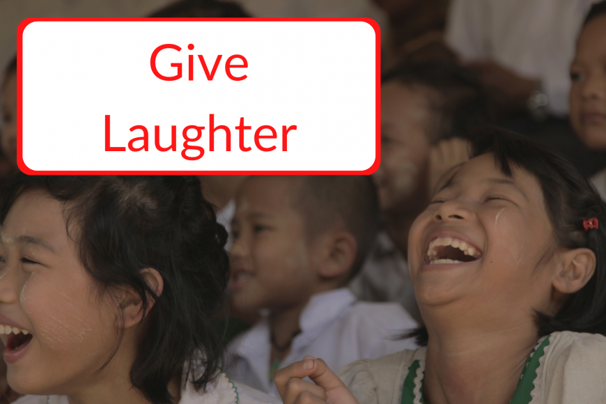 donate now to give laughter